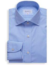 Emmett London Blue Micro Gingham Check Shirt
