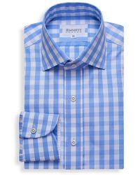 Emmett London Blue Large Gingham Check Shirt