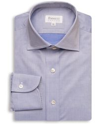 Emmett London - Blue Summer Twill Shirt - Lyst