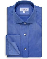Emmett London Mid Blue Royal Oxford Shirt