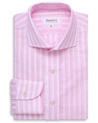 Emmett London Pink Stripe Cotton Linen Shirt