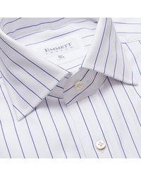 Emmett London Blue Stripe Honeycomb Weave Shirt