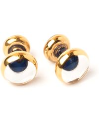 Emmett London Blue Fine Gold Coated Cufflinks - Multicolour