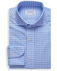 Emmett London Blue And White Airtex Shirt