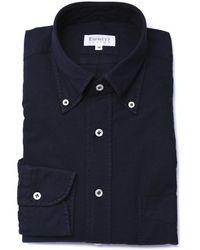 Emmett London Dark Blue Oxford Button Down Shirt