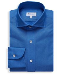Emmett London Royal Blue Airtex Shirt