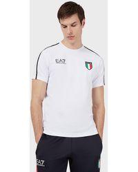Emporio Armani T-shirt Team Italia Olimpiadi Tokyo 2020 - Bianco