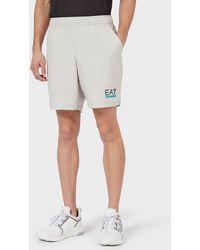 Emporio Armani Pantalones cortos con mallas de tejido técnico Ventus 7 - Gris