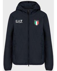 Emporio Armani Blouson De L'équipe Italienne Des Jeux Olympiques De Tokyo 2020 - Bleu