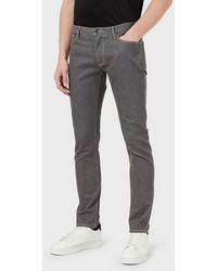 Emporio Armani Jeans J06 slim fit in cotone stretch - Grigio
