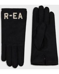 Emporio Armani Handschuhe aus R-EA-Wollstoff - Schwarz