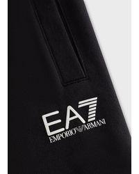 Emporio Armani Pantalones de chándal en algodón de felpa bebé Train Logo - Negro