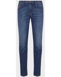 Emporio Armani Jeans J06 slim fit in comfort denim - Blu