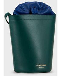 Emporio Armani Beuteltasche Zum Umhängen Aus Strukturiertem Leder - Grün