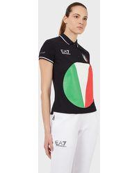 Emporio Armani Polo Team Italia Olimpiadi Tokyo 2020 - Nero