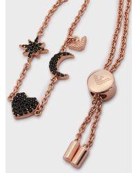 Emporio Armani Bracciale Da Donna In Argento Sterling Tonalità Oro Rosa - Metallizzato
