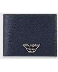 Emporio Armani Portemonnaie mit Adler-Plakette - Blau