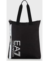 Emporio Armani Bolso shopper con logotipo - Negro