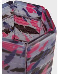 Emporio Armani Maxi Bracciale Rigido In Resina Con Texture Di Collezione - Rosa