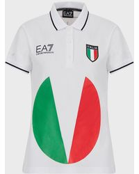 Emporio Armani Polo De L'équipe Italienne Des Jeux Olympiques De Tokyo 2020 - Blanc