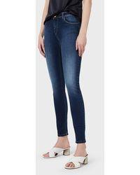Emporio Armani Jeans J28 skinny fit in comfort denim - Blu