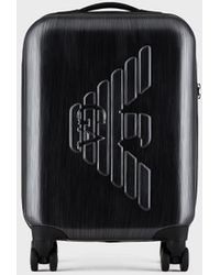 Emporio Armani Grey Embossed Logo Suitcase