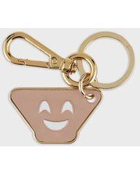 Emporio Armani Moulded Emoji Keychain - Metallic