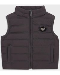 Emporio Armani Quilted-nylon Puffer Gilet With Recycled Down - Grey