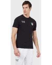 Emporio Armani T-shirt Team Italia Olimpiadi Tokyo 2020 - Blu