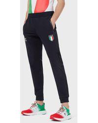 Emporio Armani Pantalones de chándal Team Italia Olimpiadas Tokio 2020 - Azul