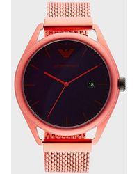 Emporio Armani Reloj híbrido - Rojo