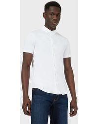 Emporio Armani Camicia a maniche corte in jersey di cotone - Bianco