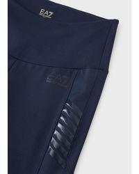 Emporio Armani Dynamic Athlete Leggings in tessuto tecnico Vigor8 - Blu