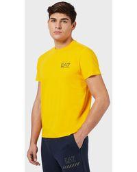 Emporio Armani Camiseta de algodón con logotipo - Amarillo