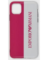 Emporio Armani Funda iPhone 11 Pro Max con logotipo - Multicolor
