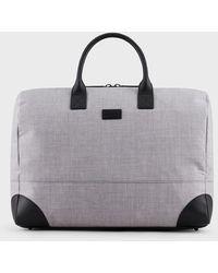 Emporio Armani El bolso de fin de semana perfecto en lana impermeable con parche con logotipo - Multicolor