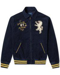 Polo Ralph Lauren Applique Cord Harrington Jacket - Blue