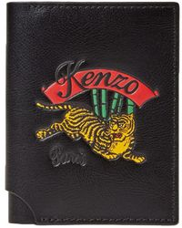 KENZO - Jumping Tiger Leather Fold Card Holder - Lyst