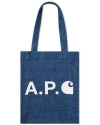 A.P.C. X Carhartt Wip Tote - Blue