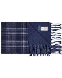 Polo Ralph Lauren Wool Plaid Scarf - Blue