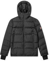 3 MONCLER GRENOBLE Isorno Back Print Logo Down Jacket - Black