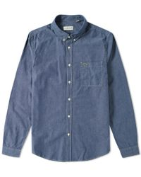 Lacoste - Chambray Button Down Oxford Shirt - Lyst