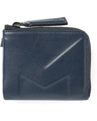 Moncler Leather Embossed Coin Wallet - Blue