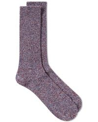 Anonymous Ism - Mock Rib Crew Sock - Lyst