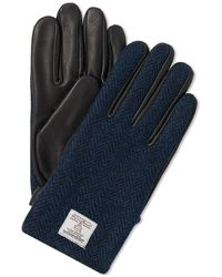 Norse Projects Kaj Harris Tweed Glove - Blue