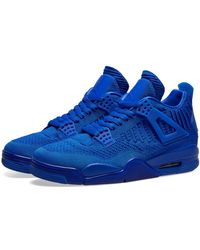 Nike Air Jordan 4 Retro Flyknit Shoe - Blue