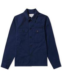 Maison Margiela 14 Distressed Shirt Jacket - Blue
