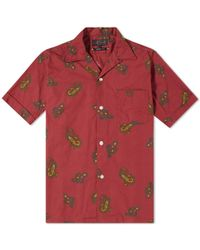 Beams Plus - Short Sleeve Large Paisley Print Vacation Shirt - Lyst