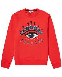 KENZO Classic Eye Crew Sweat - Red