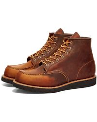 """Red Wing 8886 Heritage Work 6"""" Moc Toe Boot - Brown"""